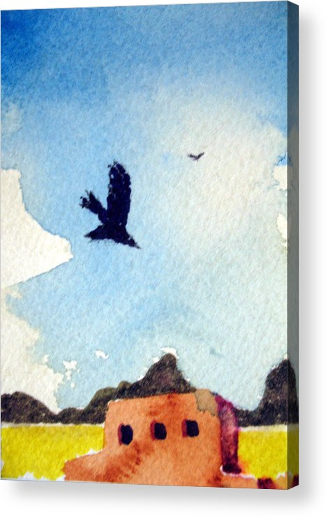 Landscape Acrylic Print featuring the painting Diving For The Good Stuff by Bill Meeker