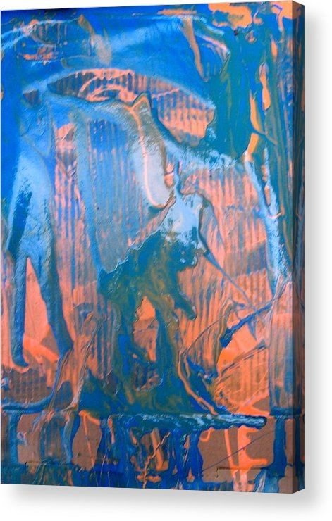 Abstract Acrylic Print featuring the painting Do You See What I See by Bruce Combs - REACH BEYOND