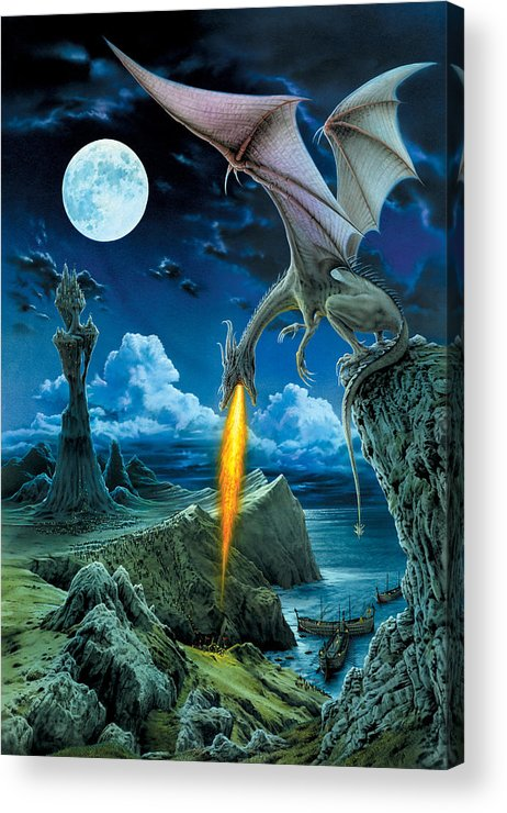 Dragon Acrylic Print featuring the photograph Dragon Spit by MGL Meiklejohn Graphics Licensing