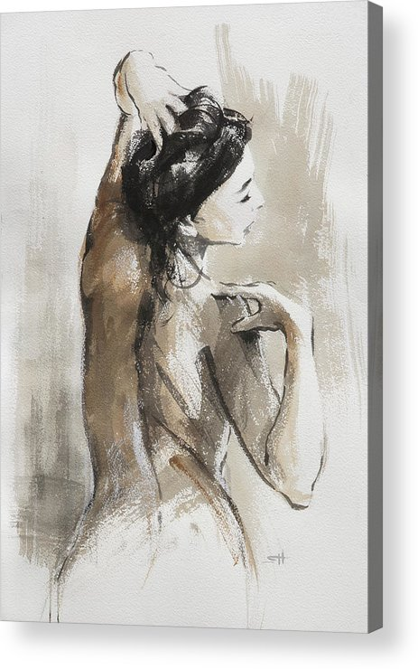 Woman Acrylic Print featuring the painting Expression by Steve Henderson