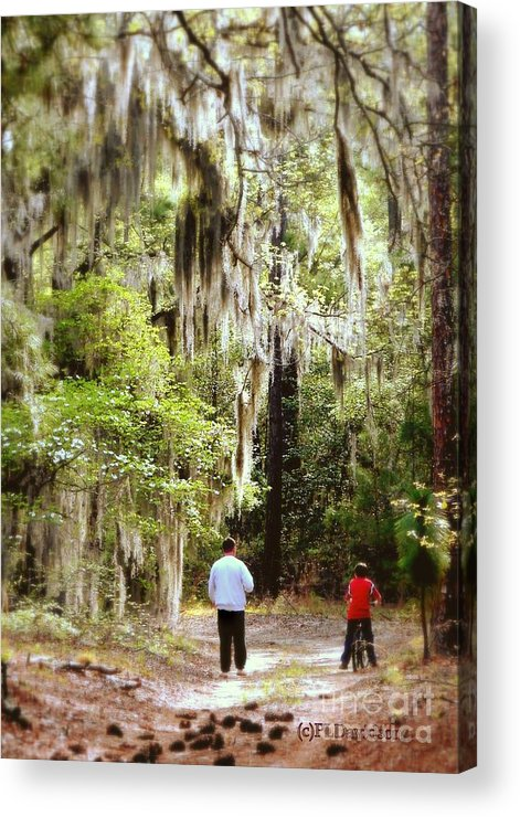 Father And Son Acrylic Print featuring the photograph Father And Son by Patricia L Davidson