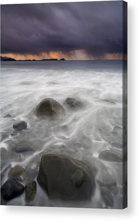 Storm Acrylic Print featuring the photograph Fingers Of The Storm by Mike Dawson