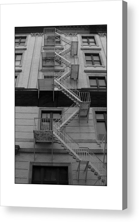 Fire Escape Acrylic Print featuring the photograph Fire Escape by Filipe N Marques