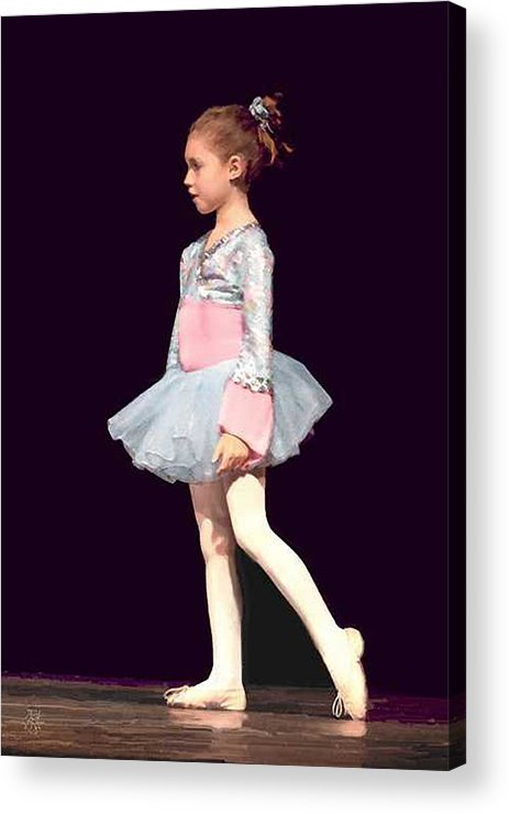 Child Ballerina. Acrylic Print featuring the digital art First Recital by John Helgeson