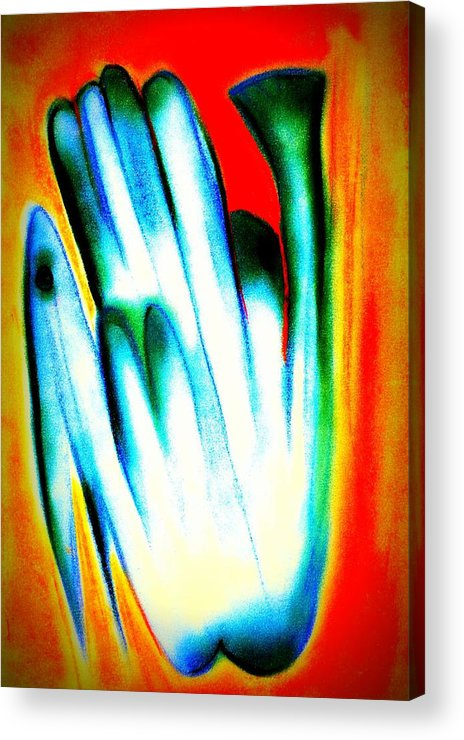Fish Bird Acrylic Print featuring the digital art Fish Bird by J Kamaru