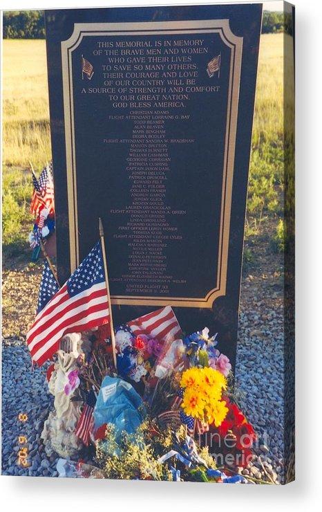 Flight 93 Heros Acrylic Print featuring the photograph Flight 93 Heros by Penny Neimiller