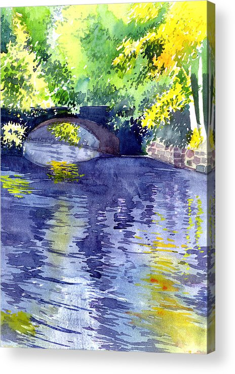 Nature Acrylic Print featuring the painting Floods by Anil Nene