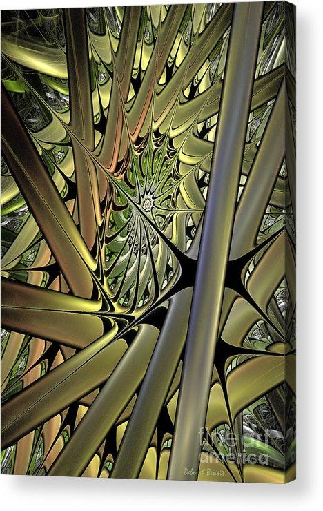 Futuristic Acrylic Print featuring the digital art Futuristic Realm by Deborah Benoit