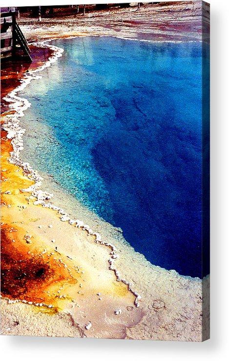 Geyser Acrylic Print featuring the photograph Geyser Basin by Nancy Mueller