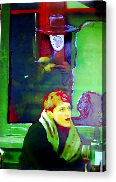 Glass Of Red Wine Acrylic Print featuring the mixed media Glass Of Red by Laurynas Karmalavicius