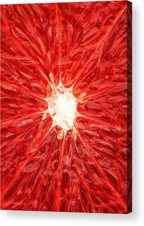 Grapefruit Acrylic Print featuring the photograph Grapefruit Close-up by Johan Swanepoel