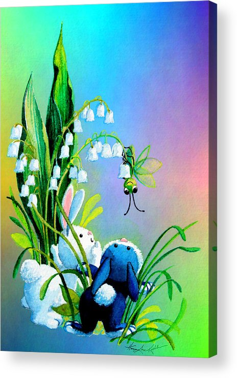 Easter Bunny Acrylic Print featuring the painting Hello There by Hanne Lore Koehler
