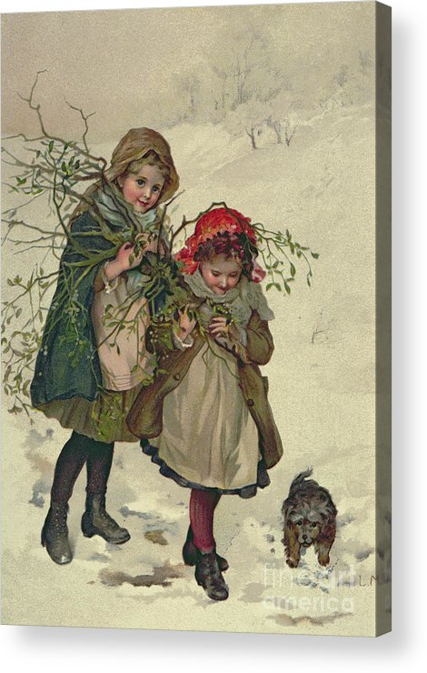 Illustration Acrylic Print featuring the painting Illustration From Christmas Tree Fairy by Lizzie Mack
