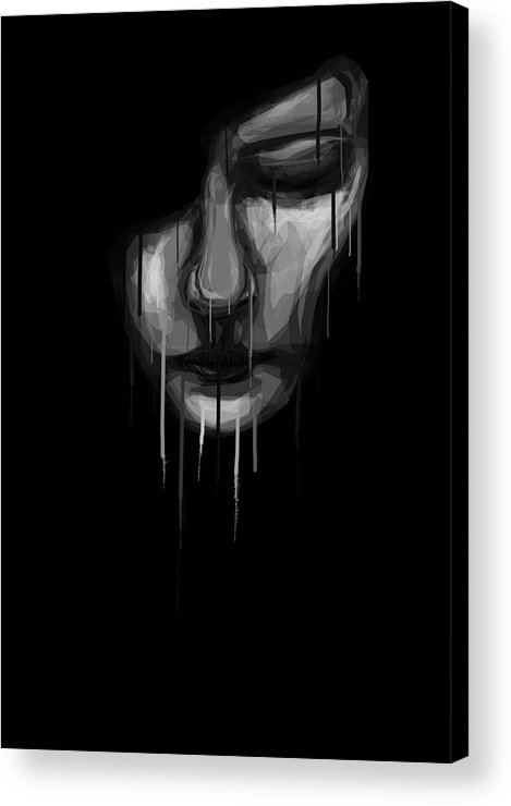 Face Acrylic Print featuring the digital art Into The Melting Pot by Aiden Galvin