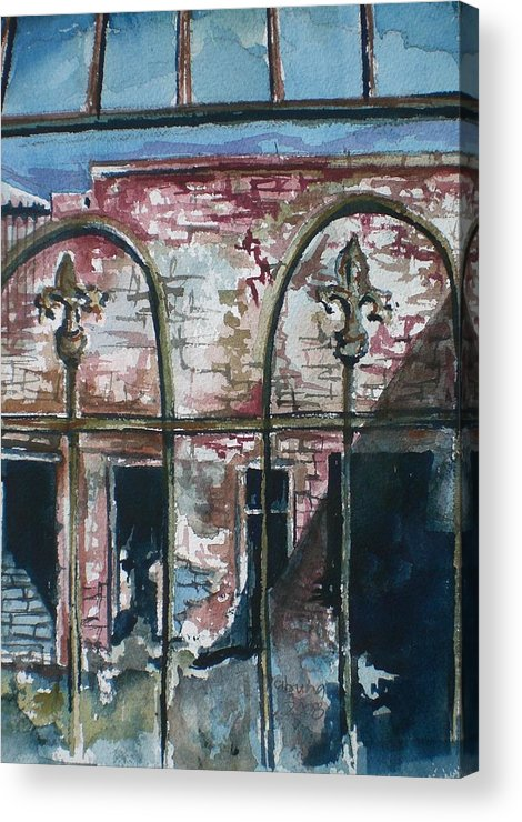 Jerome Acrylic Print featuring the painting Jerome Ruins by Aleksandra Buha