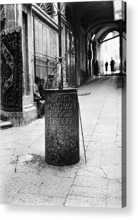 10th Acrylic Print featuring the photograph Jerusalem: Roman Pillar by Granger