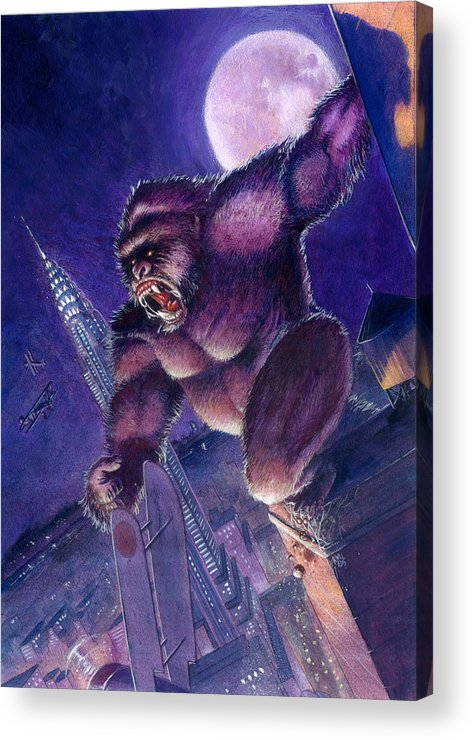 King Kong Acrylic Print featuring the painting Kong by Ken Meyer jr