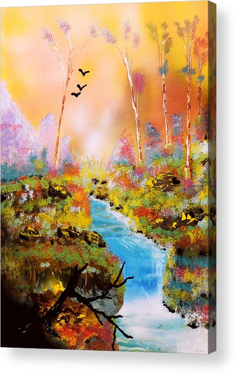 Fantasy Acrylic Print featuring the painting Land Of Oz by Nandor Molnar