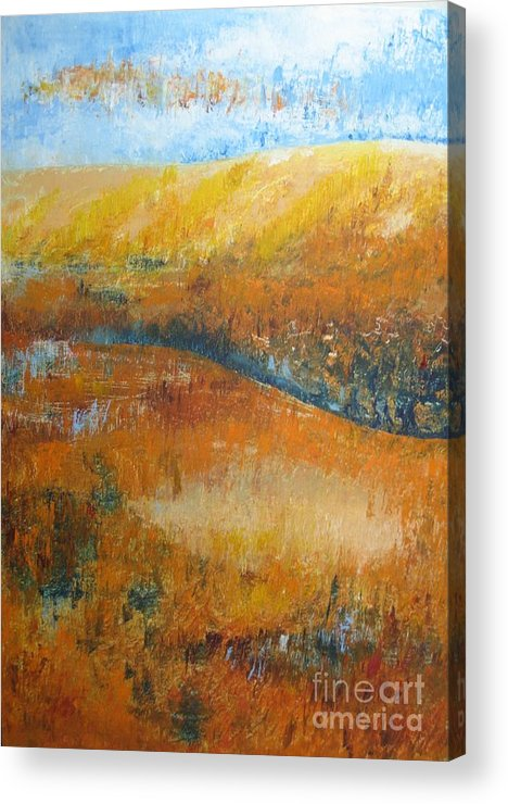 Landscape Acrylic Print featuring the painting Land Of Richness by Stella Velka