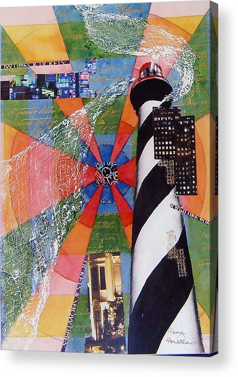Watercolor Acrylic Print featuring the painting Lighthouse by Terry Honstead