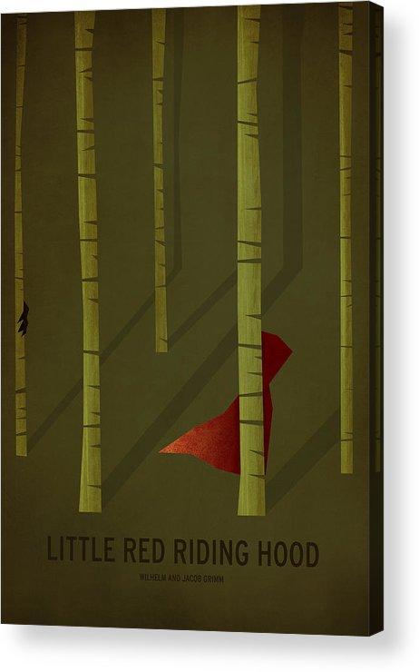 Stories Digital Art Acrylic Print featuring the digital art Little Red Riding Hood by Christian Jackson