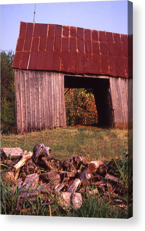 Acrylic Print featuring the photograph Lloyd Shanks Barn2 by Curtis J Neeley Jr
