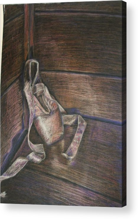 Slippers Acrylic Print featuring the pastel Loneliness by Patricia Gomez