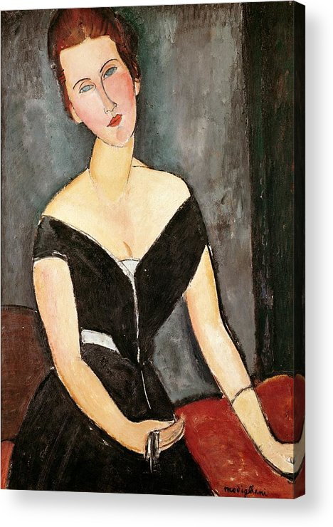 Madame Acrylic Print featuring the painting Madame G Van Muyden by Amedeo Modigliani