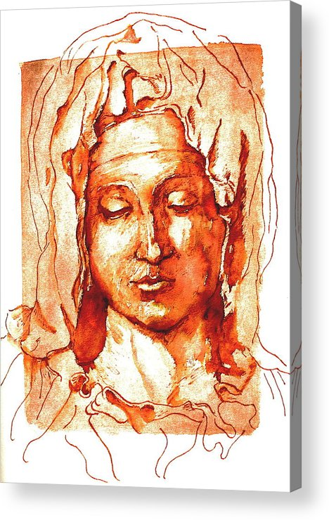 Portrait Acrylic Print featuring the painting Mary by Dan Earle