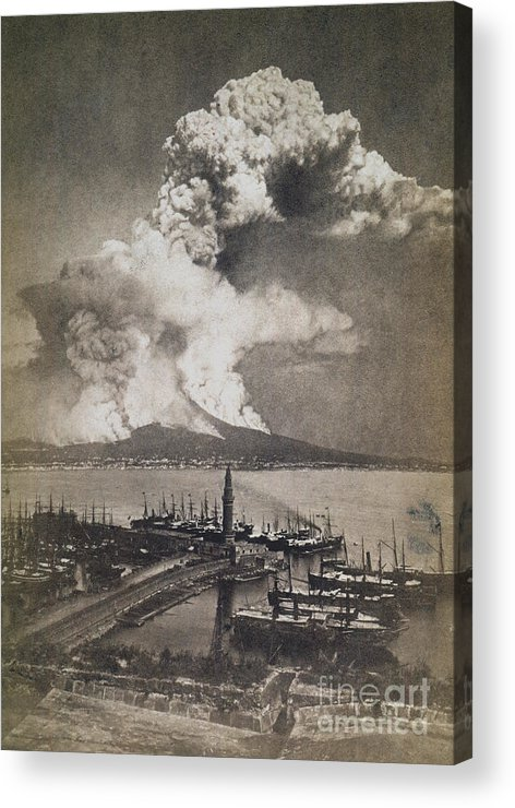 1872 Acrylic Print featuring the photograph Mt. Vesuvius Erupting by Granger