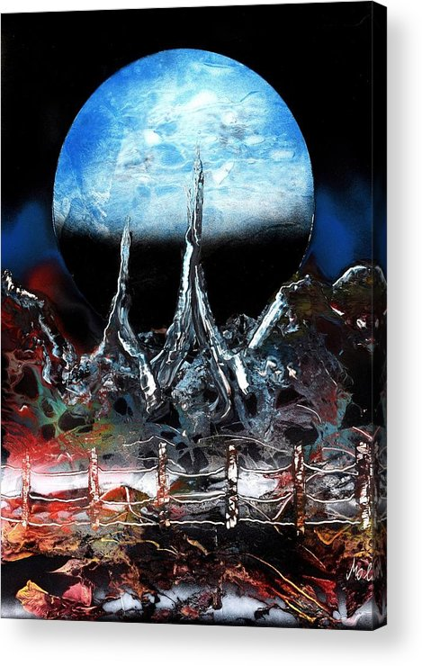 Fantasy Acrylic Print featuring the painting My Home by Nandor Molnar