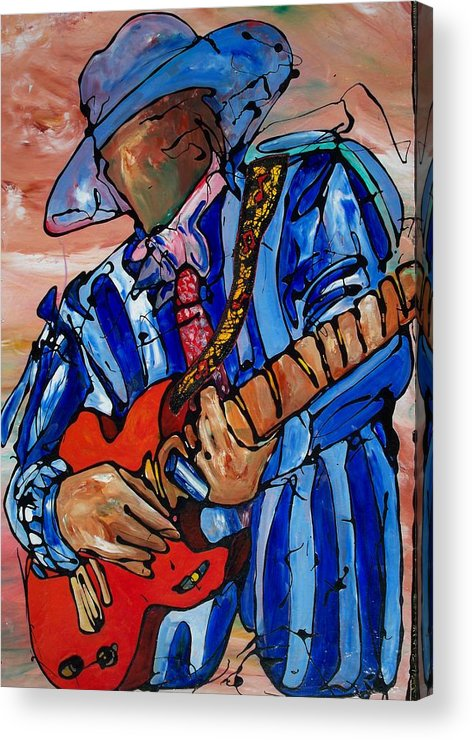 Music Acrylic Print featuring the painting Nameless The Wailer by Ernie Scott- Dust Rising Studios