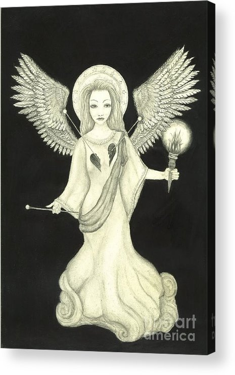 Wendy Acrylic Print featuring the drawing Love Spell by Wendy Wunstell