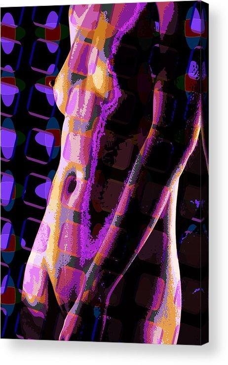 Nude Acrylic Print featuring the digital art Nude 12 by Scott Davis