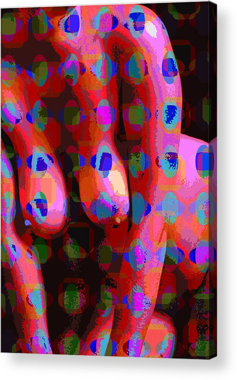 Nude Acrylic Print featuring the digital art Nude 13 by Scott Davis