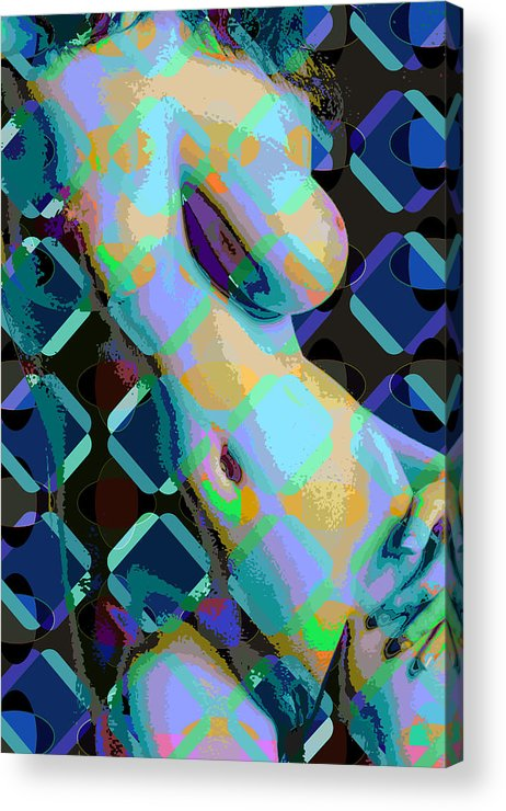 Nude Acrylic Print featuring the digital art Nude 18 by Scott Davis