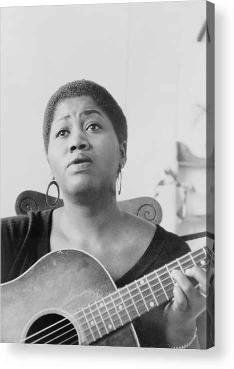 History Acrylic Print featuring the photograph Odetta Holmes 1930-2008, African by Everett