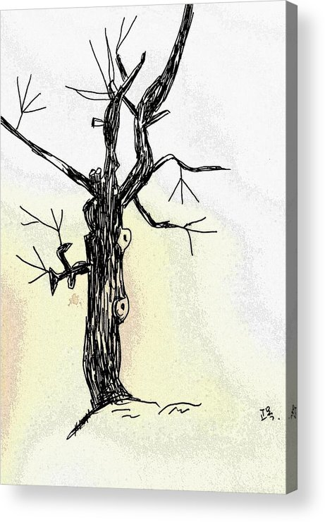 Tree Acrylic Print featuring the painting Oldest Tree by Hae Kim