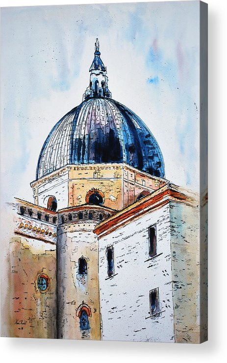 Churches Acrylic Print featuring the painting Our Lady Of Loreto I by Neva Rossi