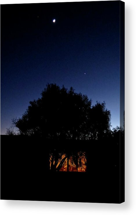 Landscape Acrylic Print featuring the photograph Outside The Night Studio by Bonnie See