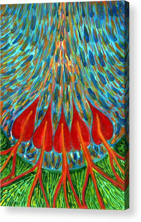 Colour Acrylic Print featuring the painting Penetration by Wojtek Kowalski
