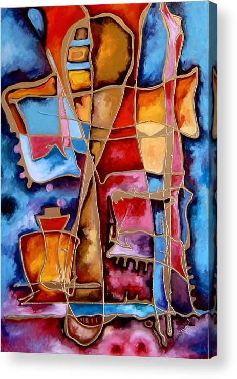 Abstract Acrylic Print featuring the painting Pocalul De Nisip by Elena Bissinger