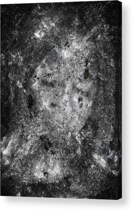 Abstract Acrylic Print featuring the digital art Portrait In Black by Randy Steele
