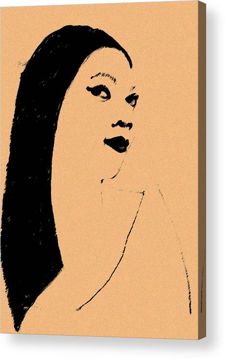 Woman Acrylic Print featuring the drawing Queen Of Cool by Jennifer Ott