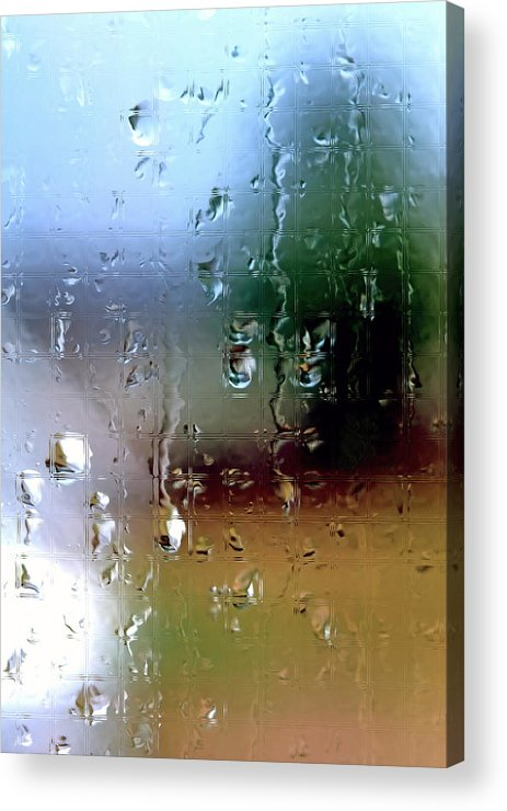 Rain Acrylic Print featuring the photograph Rainy Window Abstract by Steve Ohlsen