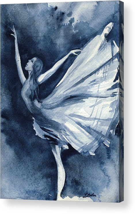 Ballet Acrylic Print featuring the painting Rhapsody In Blue by L Lauter