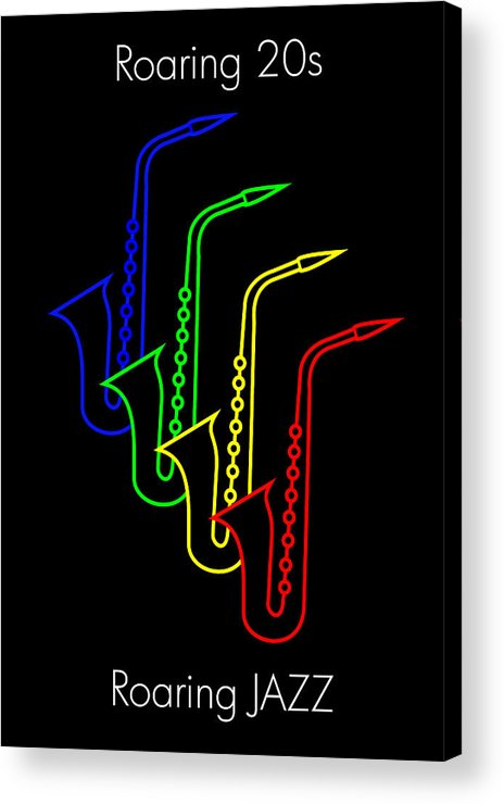Roaring Jazz Acrylic Print featuring the digital art Roaring Jazz by Asbjorn Lonvig
