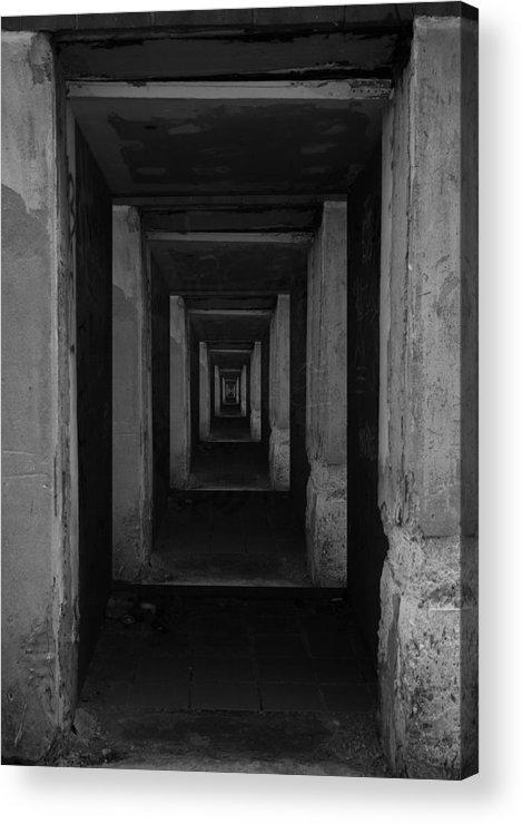 Black Acrylic Print featuring the photograph 'rock Bottom' by Adam M Dee