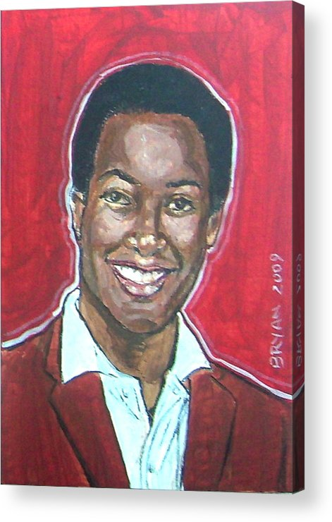 Sam Cooke Acrylic Print featuring the painting Sam Cooke by Bryan Bustard