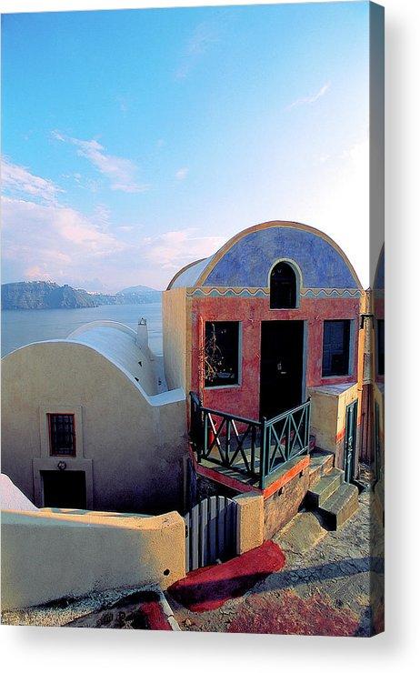Santorini Acrylic Print featuring the photograph Santorini 02 by Manolis Tsantakis